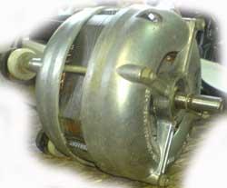 Устройство однофазного асинхронного двигателя.
