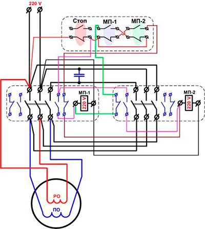 Реверс двигателя стиральной