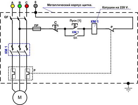 Схема магнитного пускателя катушкой фото 963