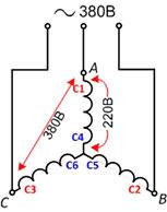 Схем соединения трехфазных электродвигателей